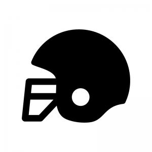 アメフトのヘルメットの白黒シルエットイラスト