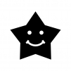 スマイルの星の白黒シルエットイラスト03
