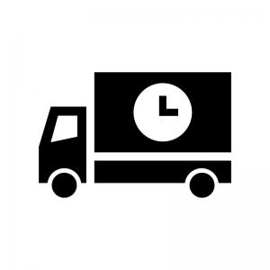 宅配の時間指定の白黒シルエットイラスト02