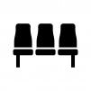 座席・ベンチの白黒シルエットイラスト02