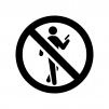 歩きスマホ禁止の白黒シルエットイラスト03