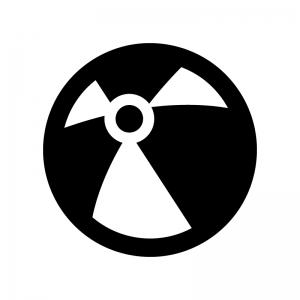 ビーチボールの白黒シルエットイラスト02
