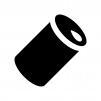 アルミ・スチール缶の白黒シルエットイラスト03