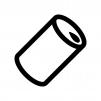 アルミ・スチール缶の白黒シルエットイラスト04