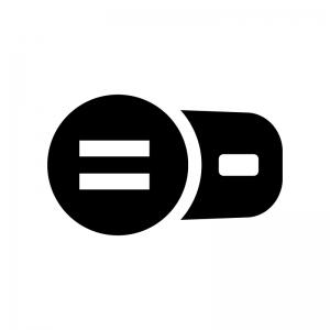 USBのカーチャージャーの白黒シルエットイラスト