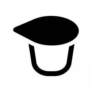 コーヒーフレッシュ(ポーション)の白黒シルエットイラスト
