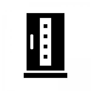 ドア・扉の白黒シルエットイラスト04