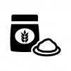 小麦粉の白黒シルエットイラスト