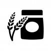 小麦粉の白黒シルエットイラスト02