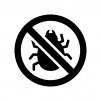 害虫駆除の白黒シルエットイラスト