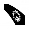 ホタルの白黒シルエットイラスト02