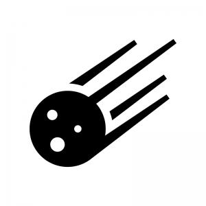 隕石の白黒シルエットイラスト02