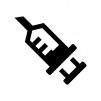 注射器の白黒シルエットイラスト02