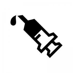 注射器の白黒シルエットイラスト03