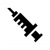 注射器の白黒シルエットイラスト04