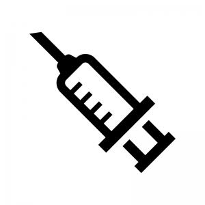 注射器の白黒シルエットイラスト05