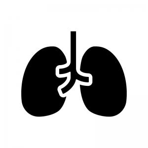 肺の白黒シルエットイラスト03