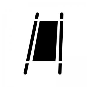 担架の白黒シルエットイラスト02