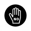 禁止・断りの白黒シルエットイラスト02