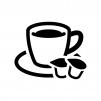 コーヒーフレッシュ(ポーション)の白黒シルエットイラスト03