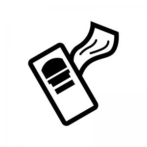 工具・カンナの白黒シルエットイラスト02