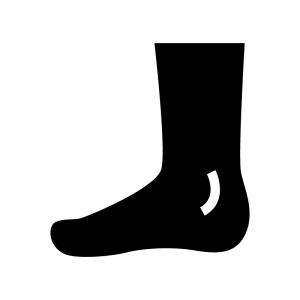 足の白黒シルエットイラスト02