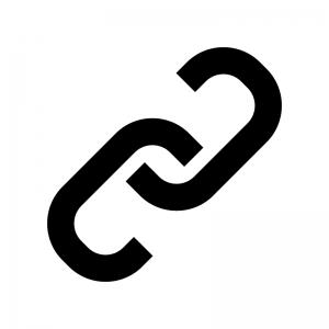 鎖・リンクマークの白黒シルエットイラスト03