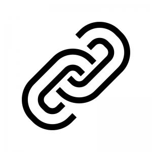 鎖・リンクマークの白黒シルエットイラスト04
