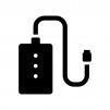 モバイルバッテリーの白黒シルエットイラスト02