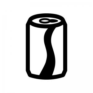 缶ジュースの白黒シルエットイラスト