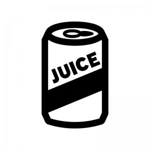 缶ジュースの白黒シルエットイラスト02