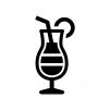 トロピカルジュースの白黒シルエットイラスト02