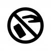 ポイ捨て禁止の白黒シルエットイラスト03