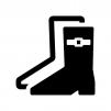長靴の白黒シルエットイラスト03