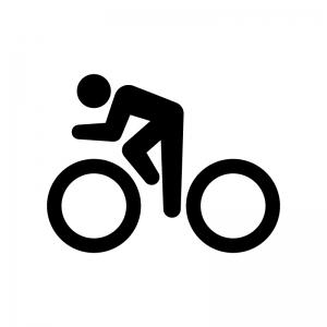自転車競技・サイクリングの白黒シルエットイラスト