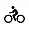 自転車競技・サイクリングの白黒シルエットイラスト02