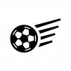 サッカーボールの白黒シルエットイラスト03