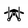 体操競技・吊り輪の白黒シルエットイラスト02