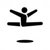 体操競技・床運動の白黒シルエットイラスト02