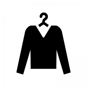 洗濯物の白黒シルエットイラスト