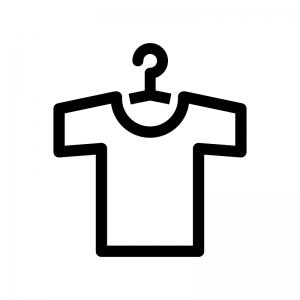 洗濯物の白黒シルエットイラスト02