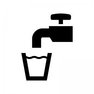 飲料水の白黒シルエットイラスト