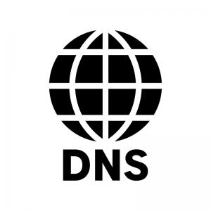 DNSの白黒シルエットイラスト