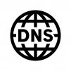 DNSの白黒シルエットイラスト02