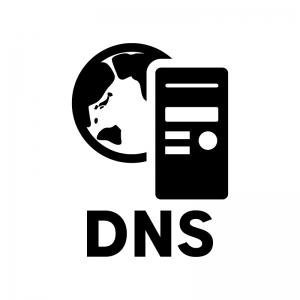 DNSの白黒シルエットイラスト03