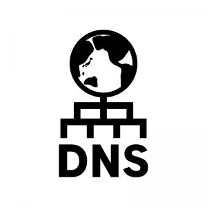 DNSの白黒シルエットイラスト04