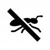 蟻の駆除の白黒シルエットイラスト
