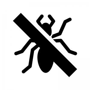 蟻の駆除の白黒シルエットイラスト02