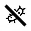 抗菌・防カビの白黒シルエットイラスト