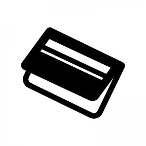 銀行通帳の白黒シルエットイラスト02